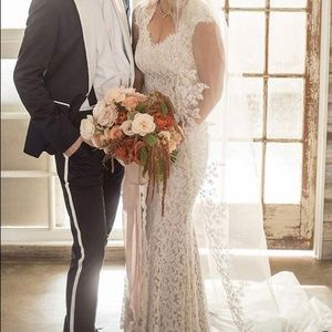 BHLDN Tadashi Shoji wedding dress, sz 4